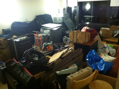 All equipment from the production of Inside Boxes in my suite